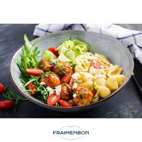 Salade de conchiglie et poulet rôti