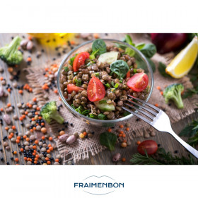 Salade de lentilles auxoignons