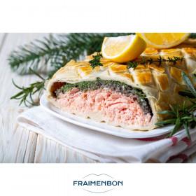 Feuilletés saumon épinard