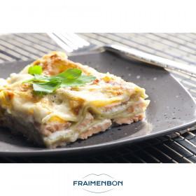 Lasagne de saumon frais et poireaux