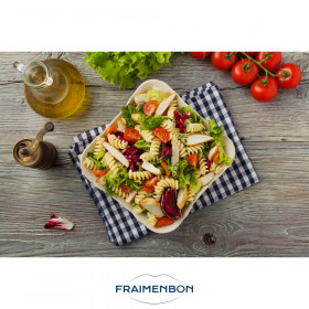 Salade de pâtes et poulet à la sauce Caesar