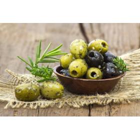 Olives vertes dénoyautées à la provençale