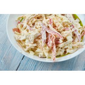Salade de chou au jambon avec tomates et comté