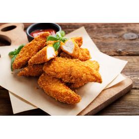 Filets de poulet panés épicés (doux)